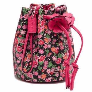 🌺Cute COACH Mini Bucket Drawstring Wristlet Bag